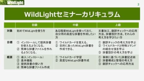 WildLightセミナーカリキュラム